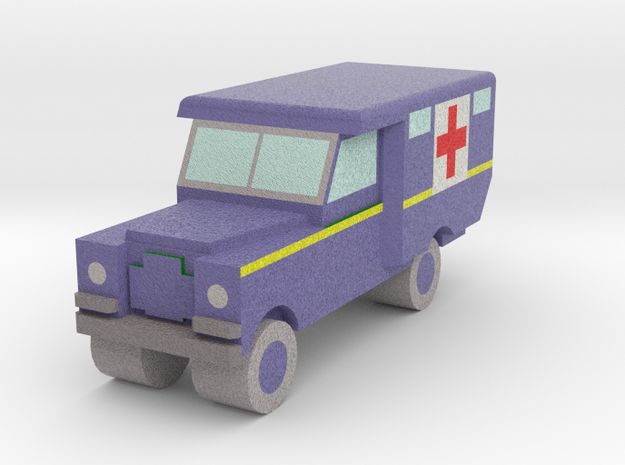 1/152 Land Rover S2 Ambulance x1 - RAF Blue in Full Color Sandstone