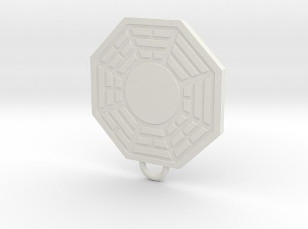 Dharma Fan Keychain in White Natural Versatile Plastic
