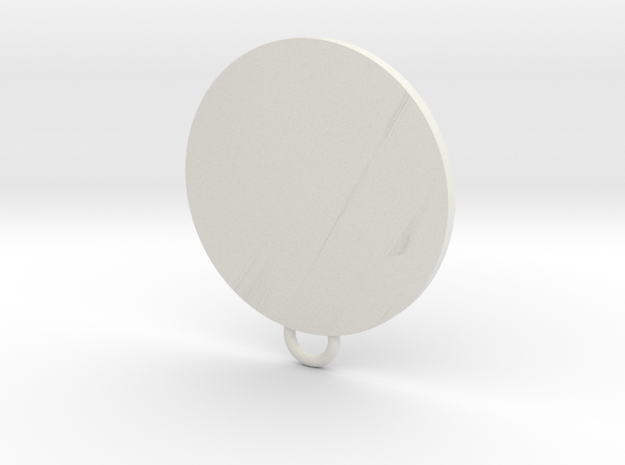 Interplanetary parcel service Fan Keychain in White Natural Versatile Plastic