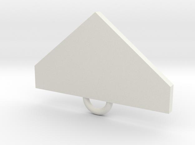 VonDoom Fan Keychain in White Natural Versatile Plastic
