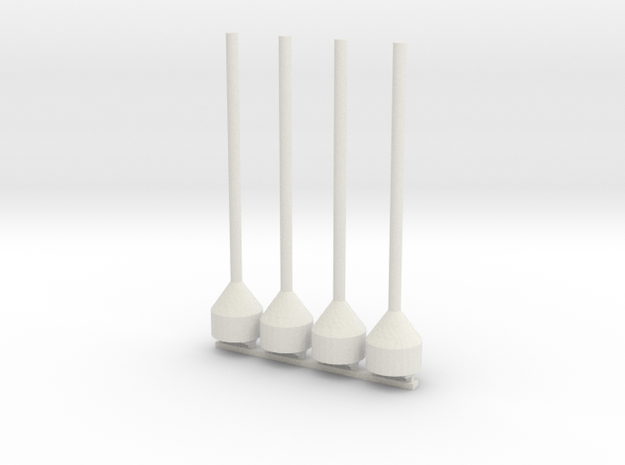 48th Scale Dan Buoy Pair in White Strong & Flexible
