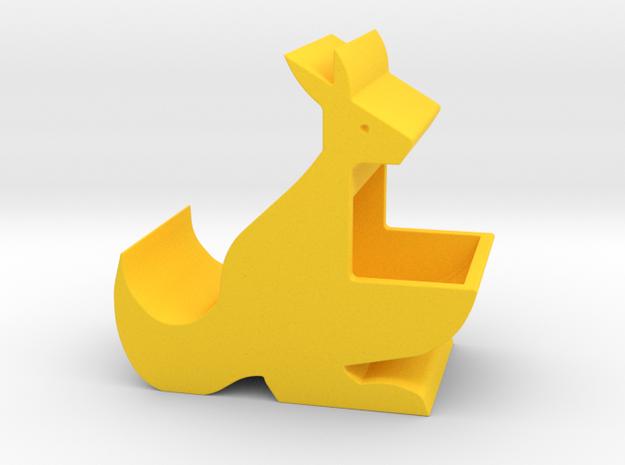 Kangaroo Mom Holder in Yellow Processed Versatile Plastic