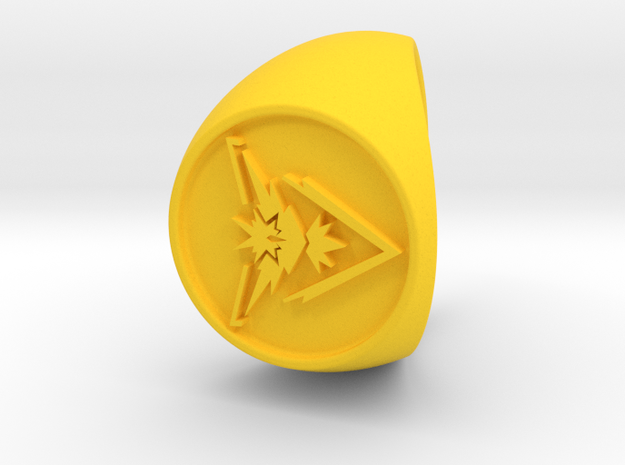 Team Instinct Signet US 12  in Yellow Processed Versatile Plastic