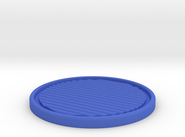 Perfster - The perfect coaster in Blue Strong & Flexible Polished