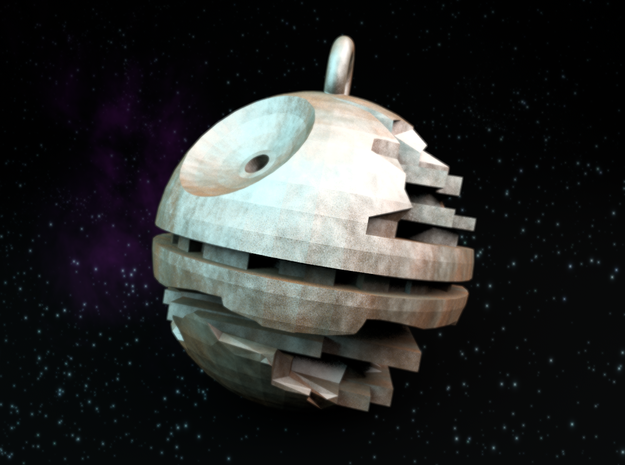 Death star medallion 3d printed Blender render. You need a space textured t-shirt! :)