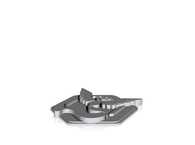 Pokemon Go Team Mystic Badge in Blue Processed Versatile Plastic