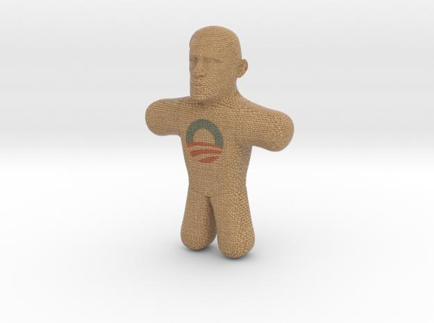 Obama Voodoo Doll - Color in Full Color Sandstone