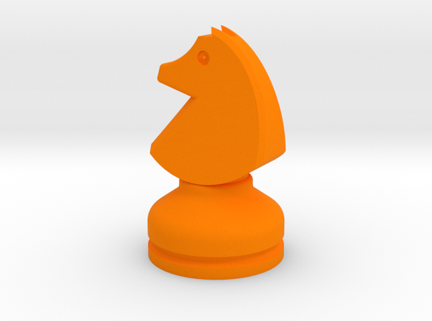MILOSAURUS Chess MINI Staunton Knight in Orange Processed Versatile Plastic