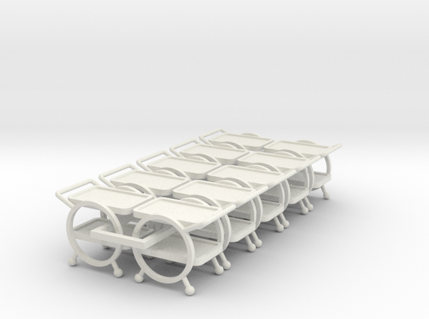 10 1:48 Deco Bar Cart in White Strong & Flexible