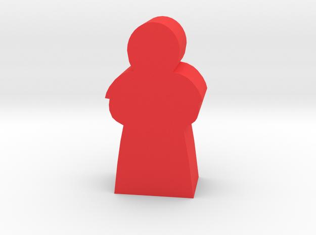 Game Piece, Cardinal Priest in Red Processed Versatile Plastic