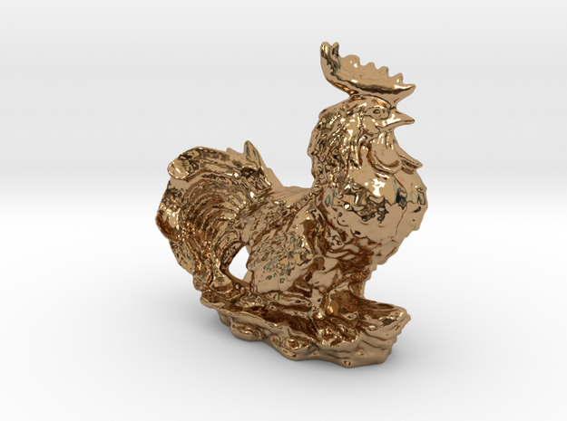 GARDEN ROOSTER in Polished Brass