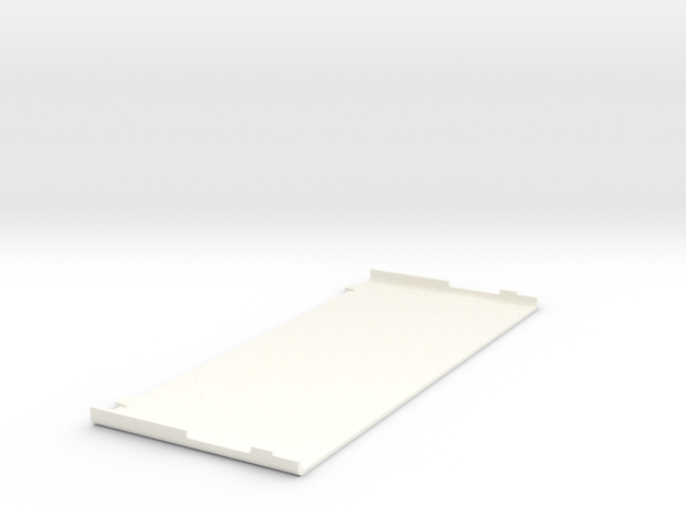 New 3DS Faceplate Top in White Processed Versatile Plastic