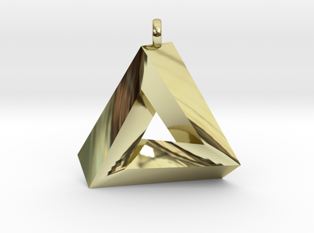 Penrose Triangle - Pendant (3cm | 2.5mm O-Ring) 3d printed