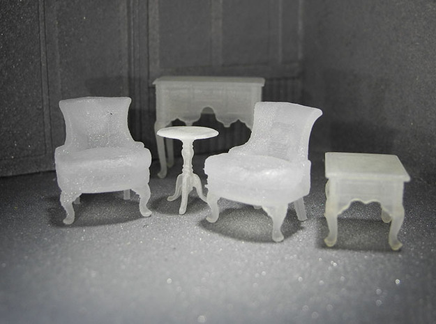 1:48 Sitting Room Set in Frosted Ultra Detail