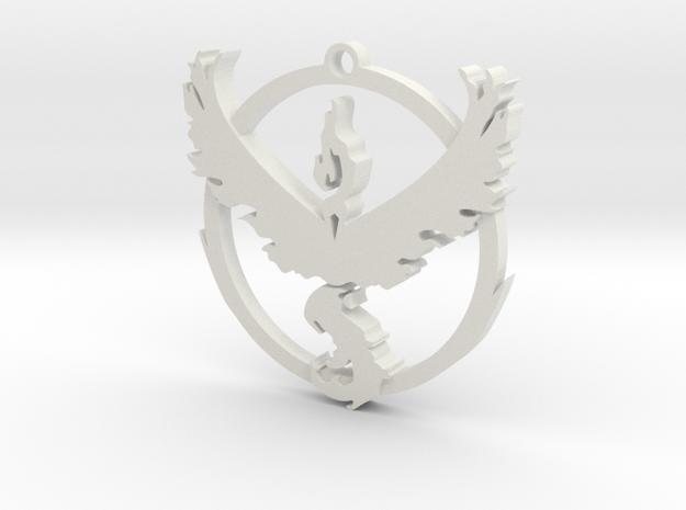 Team Valor Pendant in White Natural Versatile Plastic
