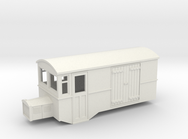 Hoe 009 railbus 42 goods version  in White Strong & Flexible