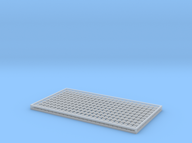 7mm Sleeper Plates C100 Rail X 500 in Frosted Ultra Detail
