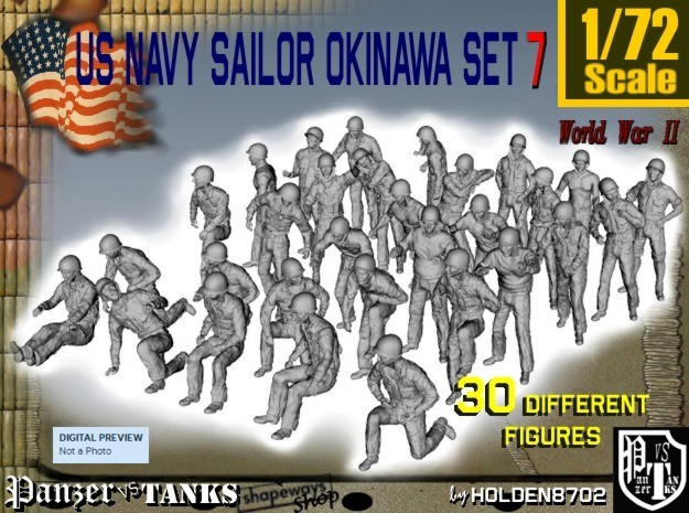 1/72 US Navy Okinawa Set 7 in Frosted Ultra Detail