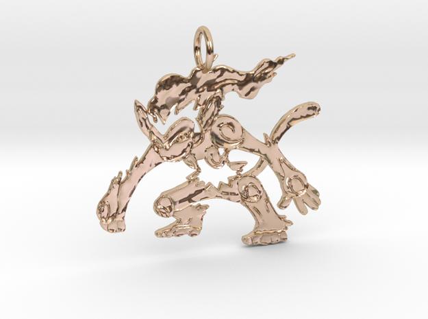 Chim chim Pendant in 14k Rose Gold Plated Brass