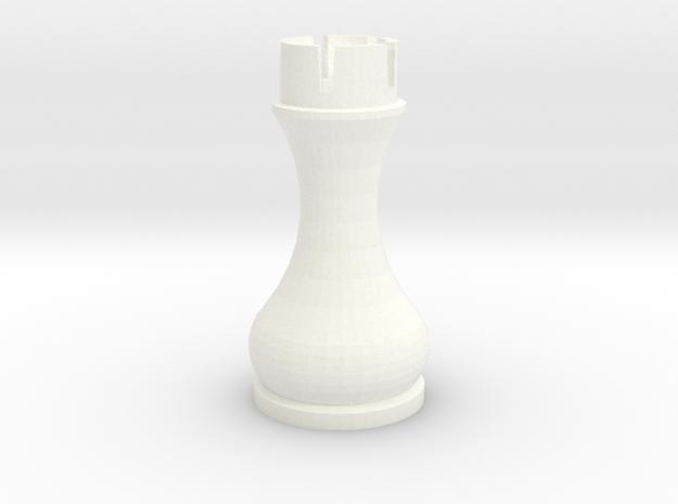 Pomo Rook in White Processed Versatile Plastic