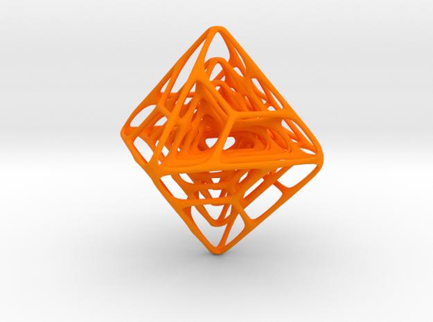 Spider Octaed in Orange Processed Versatile Plastic