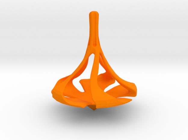 SPINDLE Spinning Top in Orange Processed Versatile Plastic