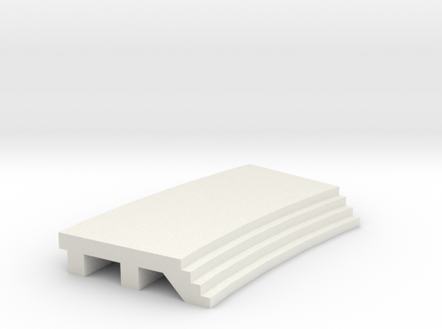 Curved Inside Platform - No Shelter in White Natural Versatile Plastic