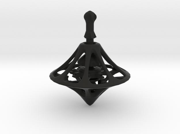MEDIEV Spinning Top in Black Natural Versatile Plastic