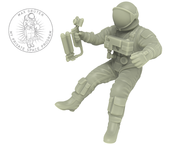Gemini EVA Astronaut / 1:72 in Frosted Ultra Detail