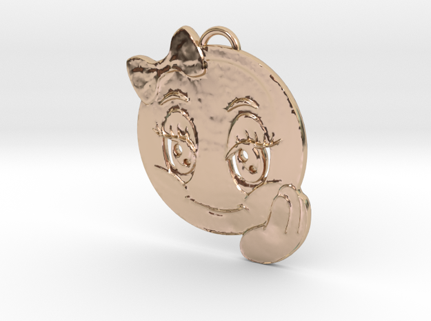 Cutiest Pendant in 14k Rose Gold Plated Brass