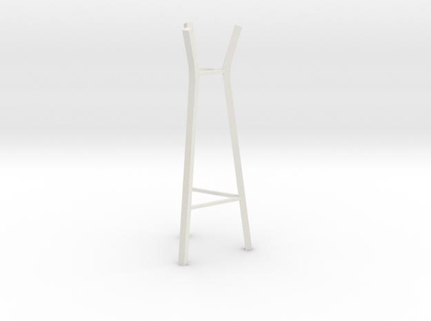 1:24 Steelwood Coat Rack in White Strong & Flexible