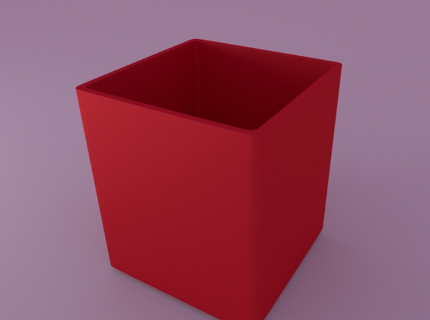 Optional inner pot for Mini cubed (floral patterne 3d printed render