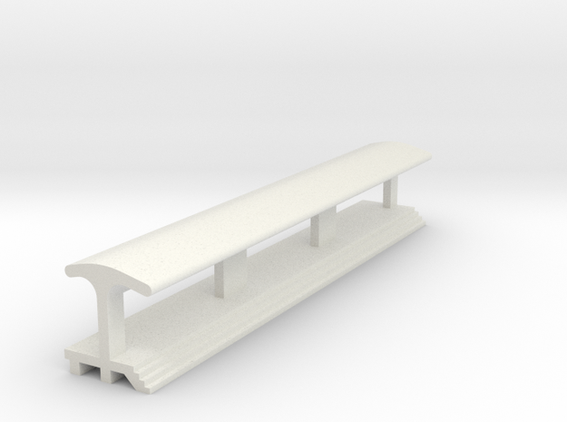 Straight, Longest Platform - With Shelter in White Natural Versatile Plastic