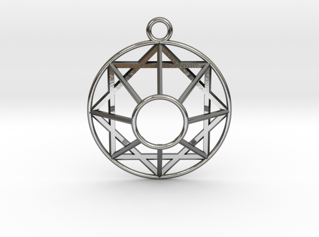 "Mel-Giza-Dek Symbol 1.3"" in Polished Silver"