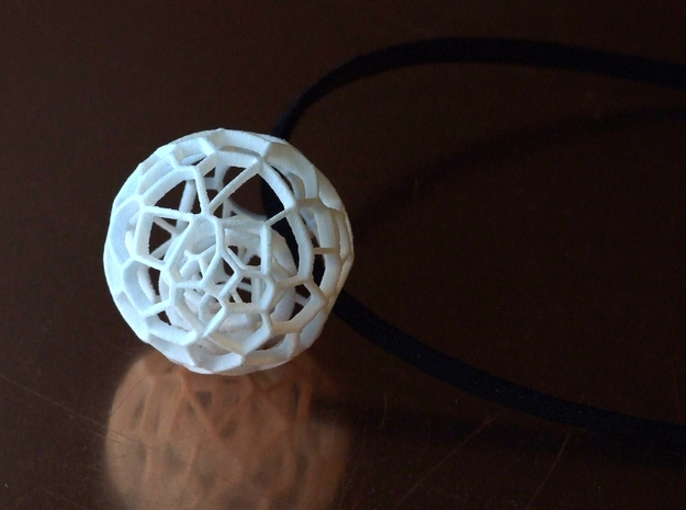 Intricate Dream Within A Dream Pendant in White Strong & Flexible