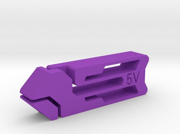 Tweezers 5V in Purple Strong & Flexible Polished