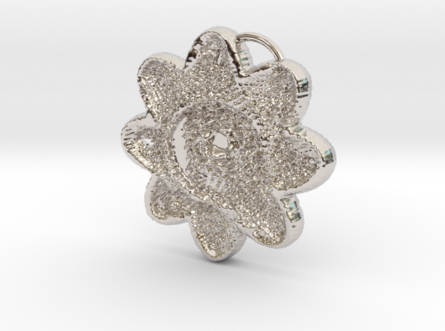 benday posy in Rhodium Plated Brass