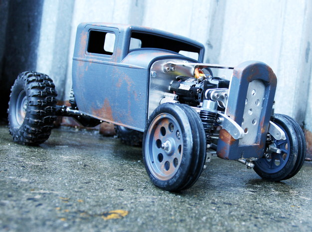 RC Hotrod Body - 32 Ford Inspired in White Processed Versatile Plastic