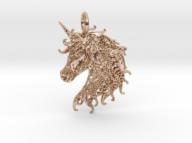 Ledgend Pendant in 14k Rose Gold Plated Brass