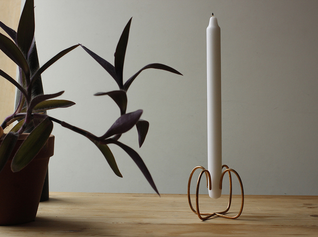 Sym Candle Holder in Raw Bronze