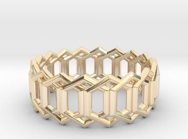 Geometric Ring 4- size 7 in 14K Yellow Gold