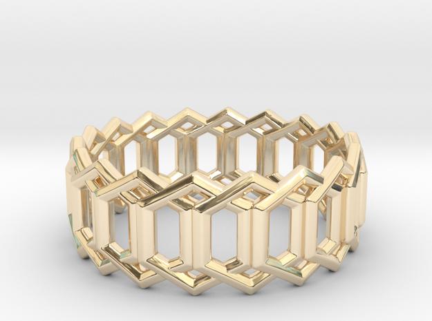 Geometric Ring 4- size 7 in 14K Gold