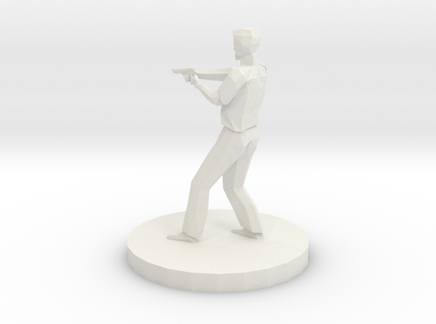 Sheriff With Pistol in White Natural Versatile Plastic
