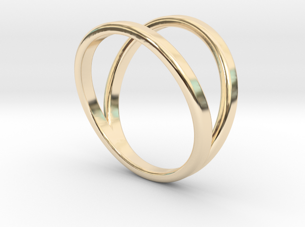 Split Ring Size 9 in 14k Gold Plated Brass