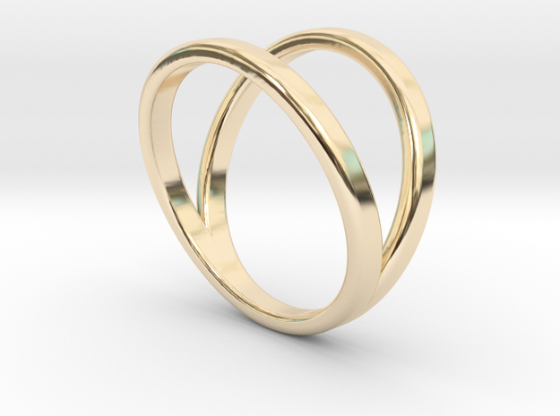 Split Ring Size 8 in 14k Gold Plated Brass