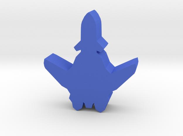 Game Piece, UN Plus Aerospace Fighter in Blue Processed Versatile Plastic