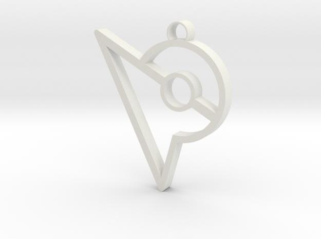 Pokemon Go Inspired Keychain in White Natural Versatile Plastic