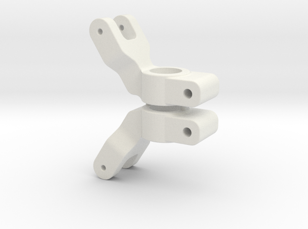 SLASH 2WD - 0 DEGREE REAR HUB CARRIER in White Natural Versatile Plastic