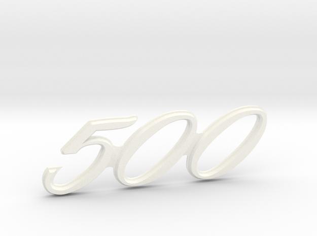 Immortan Joe 500 Leg Badge in White Processed Versatile Plastic
