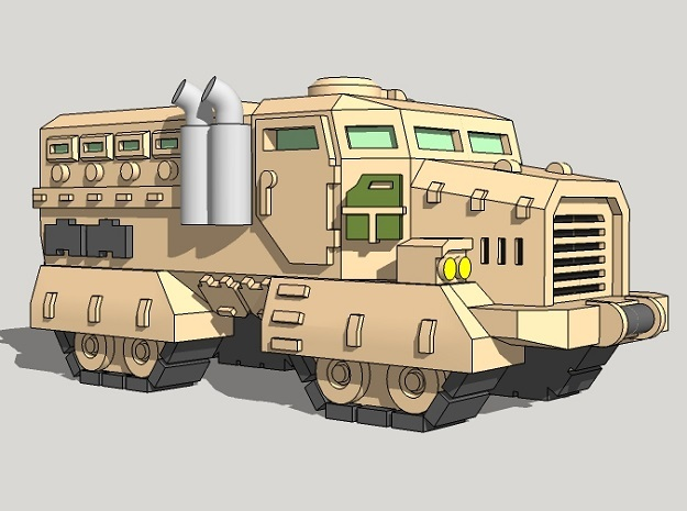 6mm Muskox MRAP APCs (Quad Tracked) (6pcs) in Smoothest Fine Detail Plastic